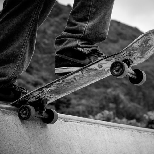 Outdoor sports skateboarding