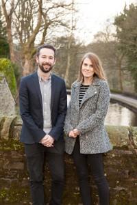 Communications professionals Joe Robinson and Jessica Beckett