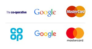 Just a small selection of companies that have moved towards a 'retro' style.