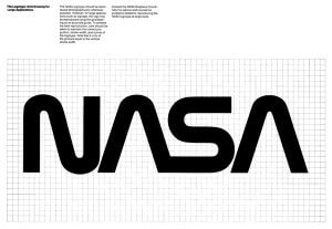 Nasa's 1970's worm logo is held up as an example of strong, simple design