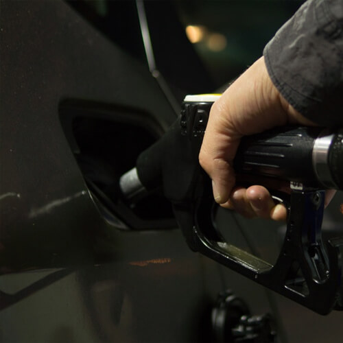 Climate change warning on petrol pumps