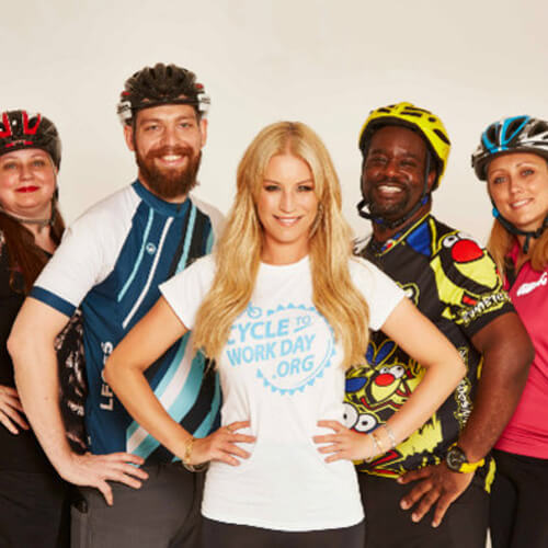 'Cycle to work, ladies' says Denise Van Outen