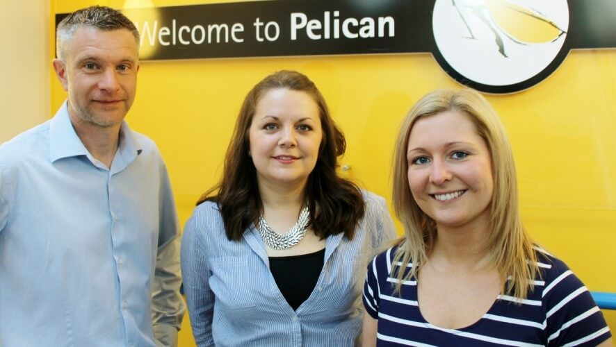 Pelican Communications - L-R - Will Herman, Rachel Ferguson and Wendy Brown