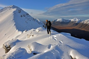 On the winter traverse of Liathach