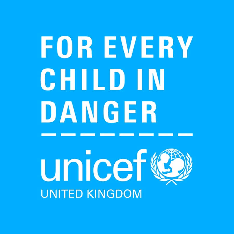 UNICEF's messaging in the UK.