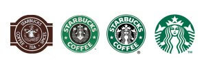 The evolution of the Starbucks logo - now easier to see at small sizes
