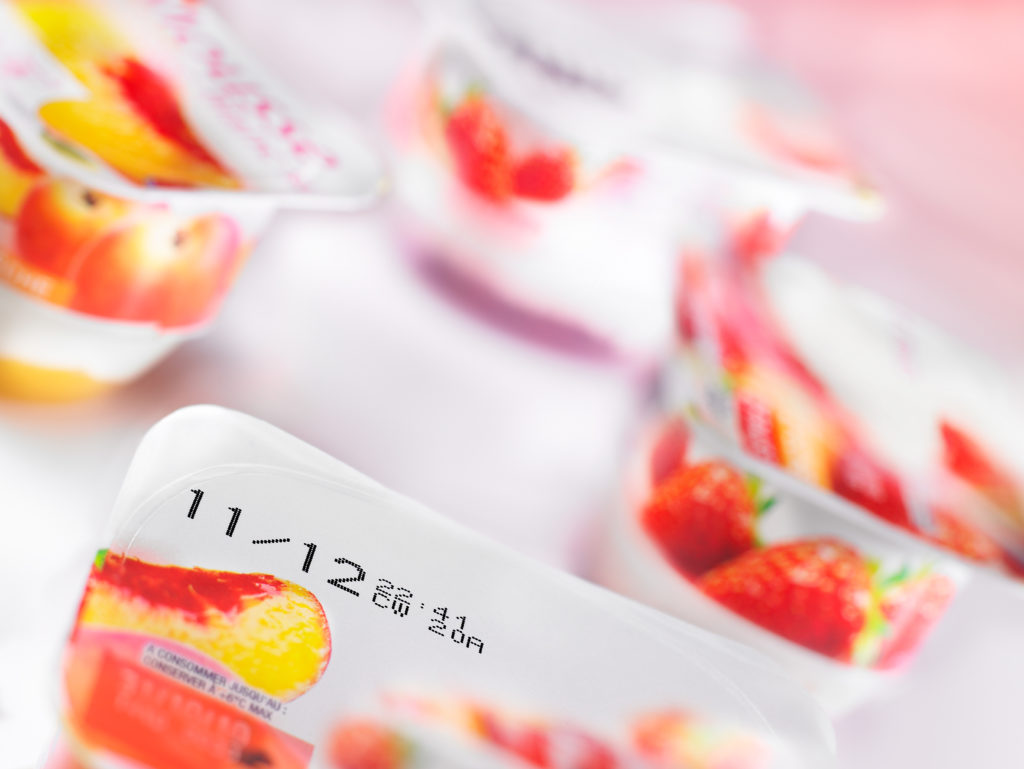 Yogurt Pots With Expiry Dates On Them