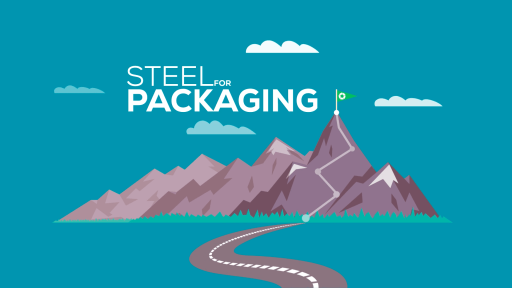 Steel For Packaging Mountain Graphic