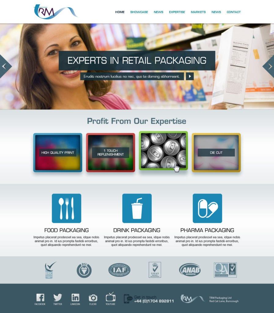 TRM Website Homepage Mock-up