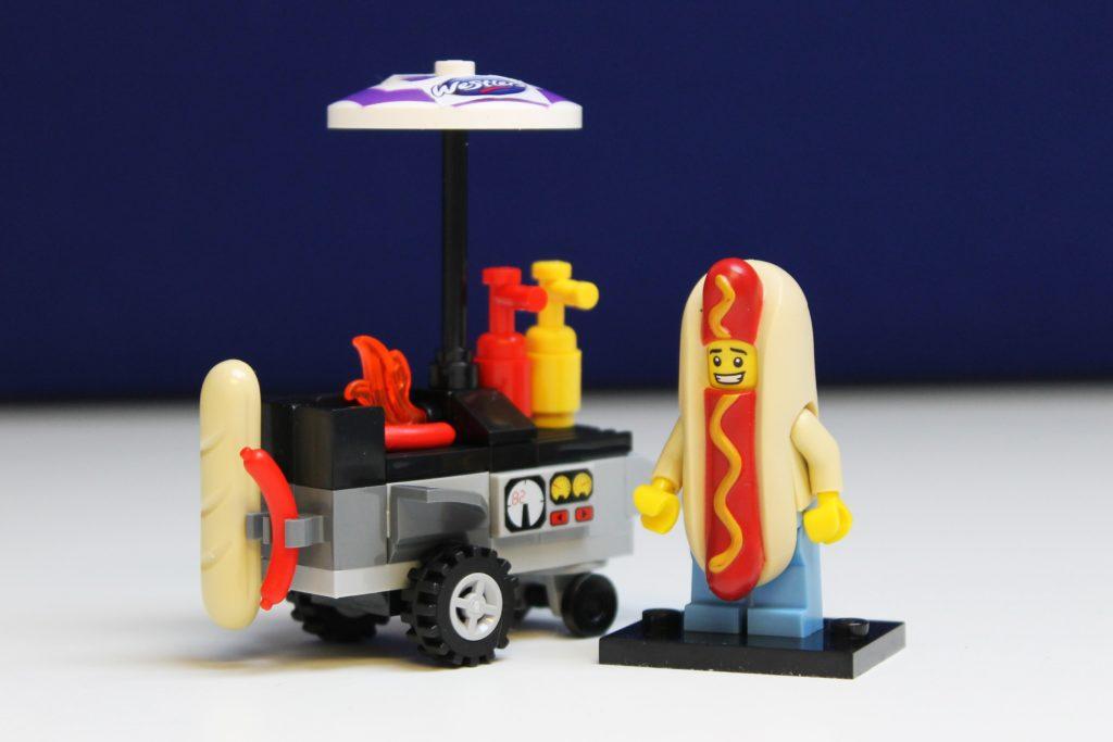 Lego Hotdog Cart & Man Dressed As Hotdog