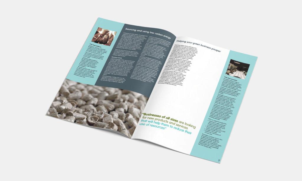 Green Business Brochure Mock-up
