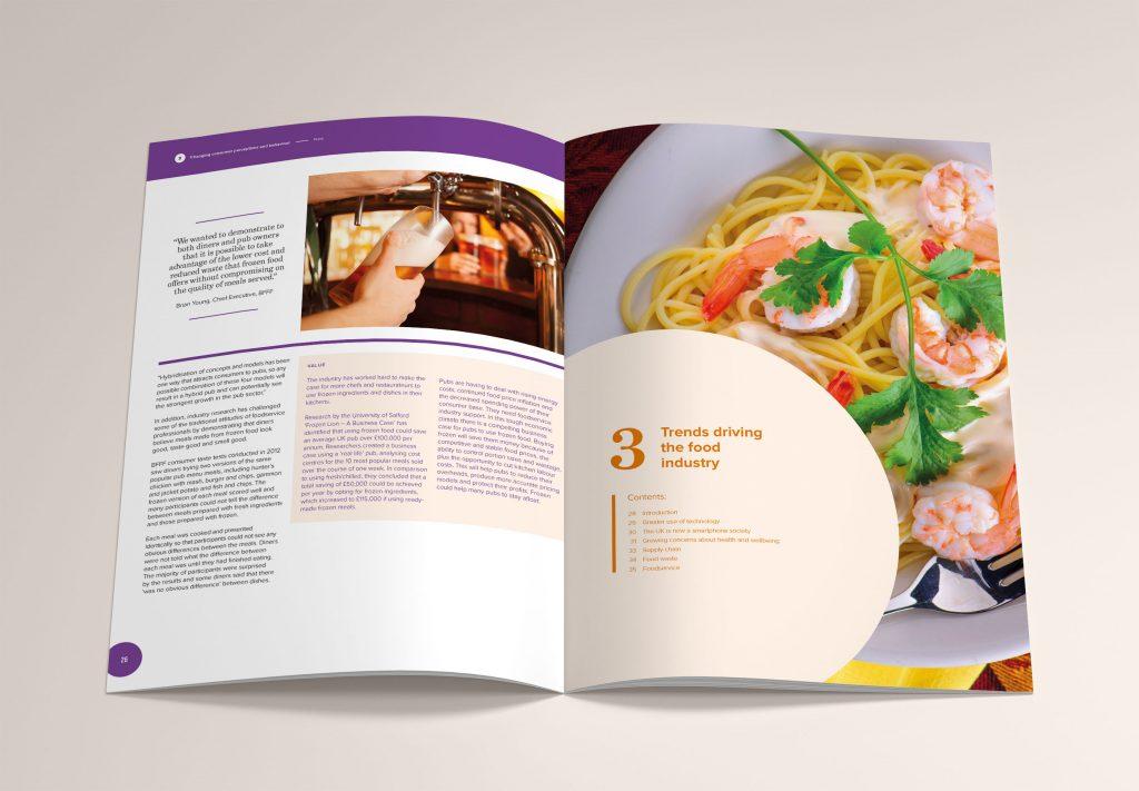 A Food Industry Brochure Mock-up