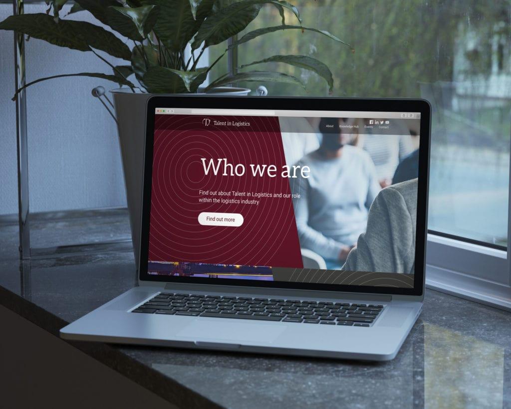 Talent In Logistics Website Mock-up On A Laptop