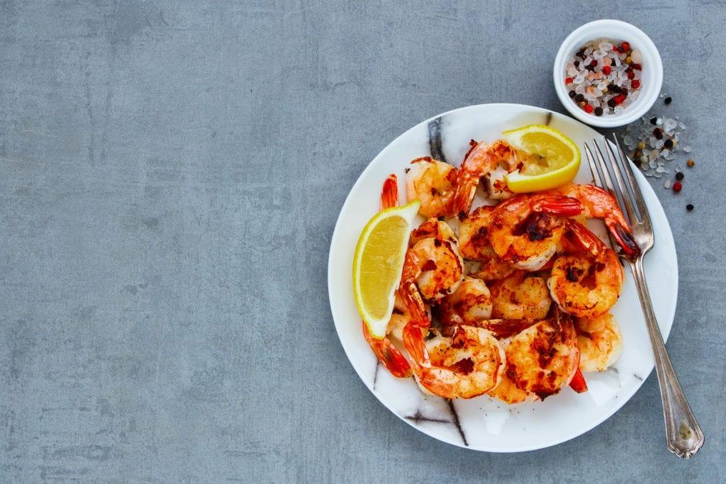 A Prawn Dish With Lemon And Sea Salt