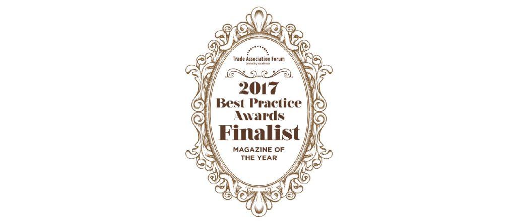 Trade Association Forum Best Practice Magazine Of The Year 2017 Finalist