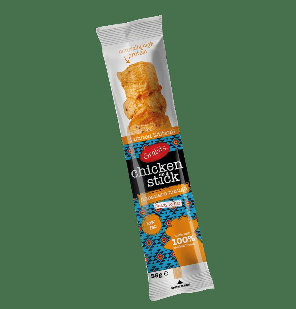 Grabits Chicken On A Stick Habanero Mango Flavour