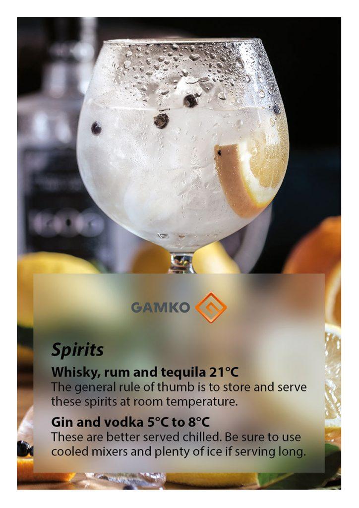 A Ganko Temperature Guide For Alcoholic Spirits