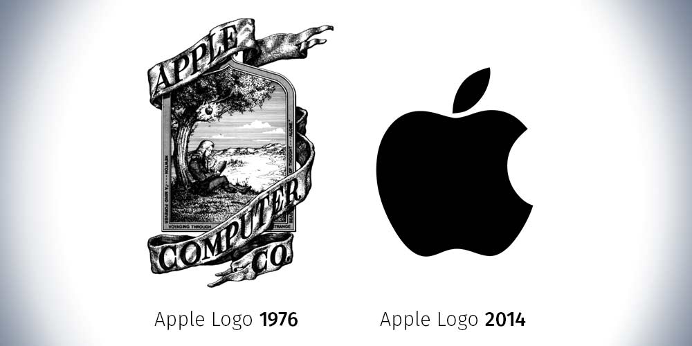 Apple logo progression