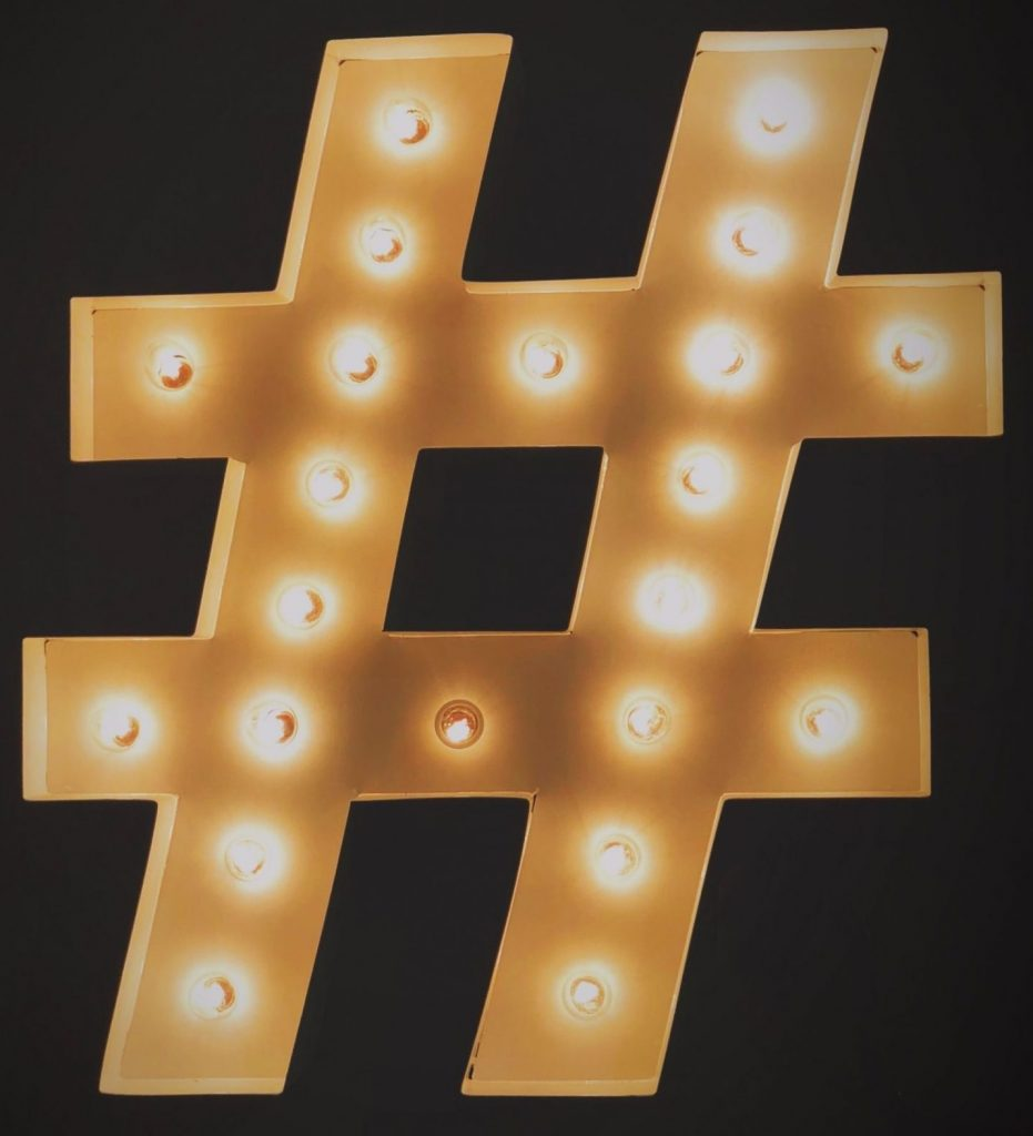 A Hashtag Made Out Of Lightbulbs