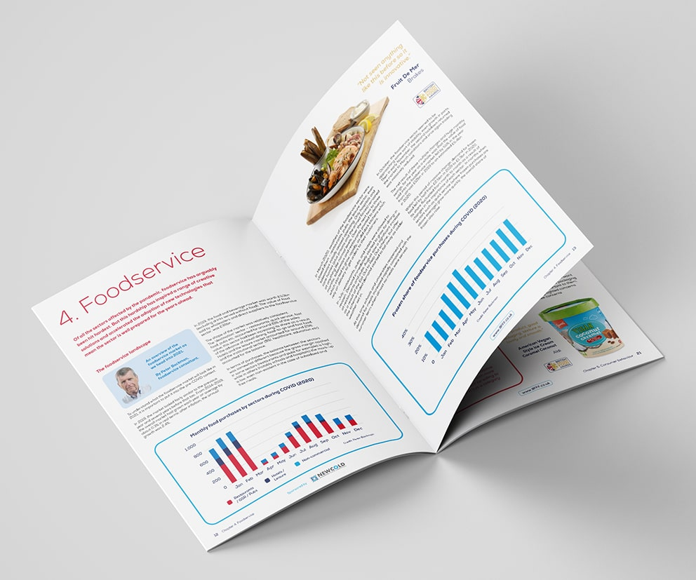 A Food Service Brochure Mock Up
